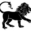 Stylised Lion illustration - Stock Vector