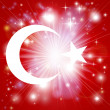 Turkish flag background — Stock Vector #16893663