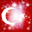 Stock Vector: Turkish flag background
