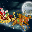 Santa and Sleigh — Stock Vector