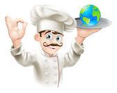 Mundo no prato — Vetorial Stock