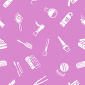 无缝化妆品背景纹理 — 图库矢量图片