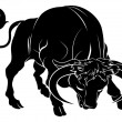 Stylised bull illustration — Stock Vector
