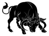 Stylised bull illustration — Stock Vector