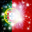 Stock Vector: Portuguese flag background