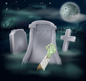 Zombie grave illustration — Stock Vector