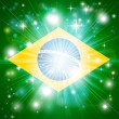 Brazilian flag background - Stock Vector