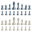 Chess pieces set — Stock Vector