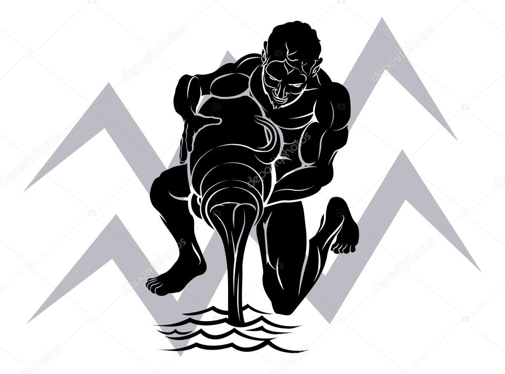 знак водолея картинки тату