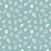 Texture de fond de gadgets sans soudure — Vecteur