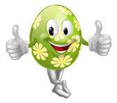 Thumbs Up Cartoon Easter Egg Man — Stock Vector
