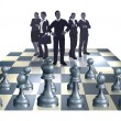 Постер, плакат: Chess Business Team Concept