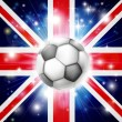 Stock Vector: UK soccer flag