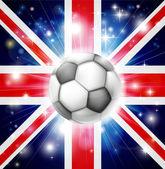 UK soccer flag — Stock Vector