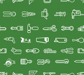 Repeating tools background — Stock Vector