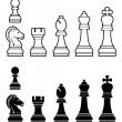 Chess pieces set - Grafika wektorowa