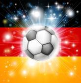 German soccer flag — Stock Vector