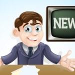 News anchor man — Stock Vector