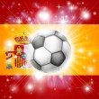 Spain soccer flag — Stock Vector #21107875