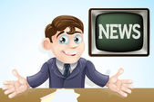 News anchor man — Stock Vector