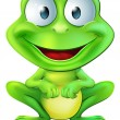 Cute frog character - Stock Vector