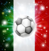 Italy soccer flag — Stock Vector