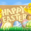 Royalty-Free Stock Vector Image: Happy Easter Sign
