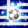 Greek soccer flag — Stock Vector #21791939