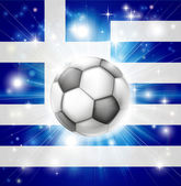 Greek soccer flag — Stock Vector