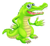 Cartoon Crocodile Illustration — Stock Vector