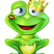 Stock Vector: Kissed frog prince