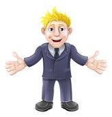 Blonde zakenman cartoon — Stockvector