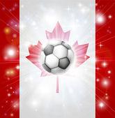 Bandiera calcio Canada — Vettoriale Stock