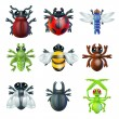 Insect bug icons — Stockvektor