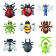 Insect bug icons — Stock vektor