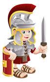 Roman Soldier with Sword — Stock Vector
