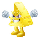 Angry cheese man — Stock Vector