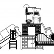 Pile of furniture - Stock Vector