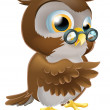 Pointing Cute Owl — Stock Vector #23454346