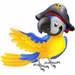 Parrot pirate character - Stock Vector