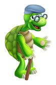 Senior Tortoise Cartoon — Stock Vector