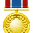 Royalty-Free Stock Vector Image: Golf medal