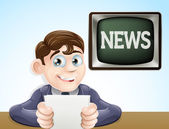 News reporter — Stock Vector