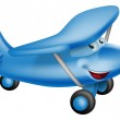 Cute airplane cartoon character — Stock Vector #24045573