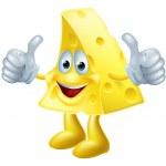 Happy cartoon cheese man — Stock Vector