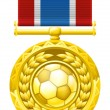 Stock Vector: Soccer football medal