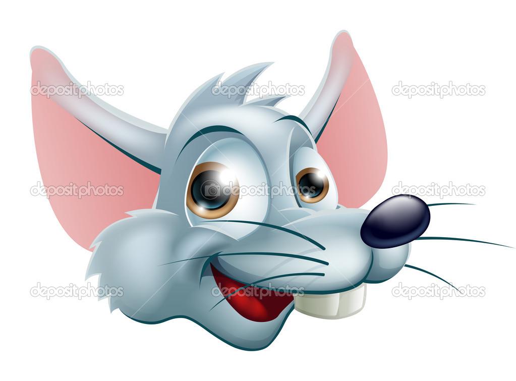 Cartone animato topo viso — vettoriali stock krisdog