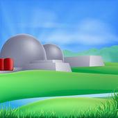 Nuclear power energy illustration — Stock Vector