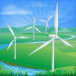 Royalty-Free Stock Vector Image: Wind power energy illustration