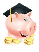 Graduation Piggy bank — Stock Vector
